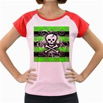 Deathrock Skull Women s Cap Sleeve T-Shirt