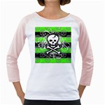 Deathrock Skull Girly Raglan