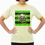 Deathrock Skull Women s Fitted Ringer T-Shirt