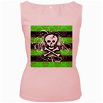 Deathrock Skull Women s Pink Tank Top