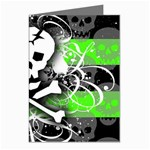 Deathrock Skull Greeting Cards (Pkg of 8)