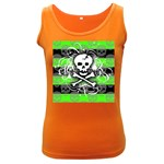 Deathrock Skull Women s Dark Tank Top