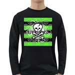 Deathrock Skull Long Sleeve Dark T-Shirt
