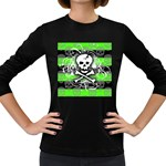 Deathrock Skull Women s Long Sleeve Dark T-Shirt