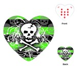 Deathrock Skull Playing Cards Single Design (Heart)