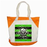 Deathrock Skull Accent Tote Bag