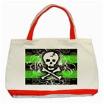 Deathrock Skull Classic Tote Bag (Red)