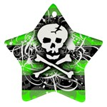 Deathrock Skull Star Ornament (Two Sides)