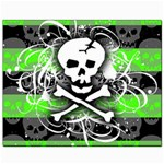 Deathrock Skull Canvas 8  x 10