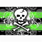 Deathrock Skull Canvas 12  x 18