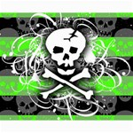 Deathrock Skull Canvas 16  x 20