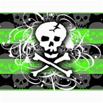 Deathrock Skull Canvas 18  x 24