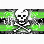 Deathrock Skull Canvas 40  x 72
