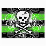 Deathrock Skull Large Glasses Cloth (2 Sides)