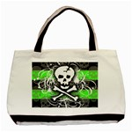 Deathrock Skull Basic Tote Bag (Two Sides)