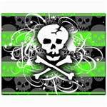 Deathrock Skull Canvas 11  x 14