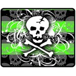 Deathrock Skull Fleece Blanket (Medium)