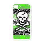 Deathrock Skull iPhone 4 Case (White)