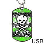 Deathrock Skull Dog Tag USB Flash (Two Sides)