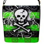 Deathrock Skull Flap Closure Messenger Bag (S)
