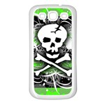 Deathrock Skull Samsung Galaxy S3 Back Case (White)
