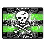 Deathrock Skull Double Sided Fleece Blanket (Small)