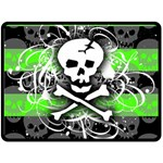 Deathrock Skull Double Sided Fleece Blanket (Large)