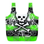 Deathrock Skull Full Print Recycle Bag (L)