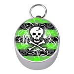 Deathrock Skull Silver Compass (Mini)