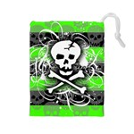 Deathrock Skull Drawstring Pouch (Large)