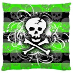 Deathrock Skull Standard Flano Cushion Case (One Side)