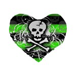 Deathrock Skull Standard 16  Premium Flano Heart Shape Cushion