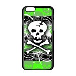Deathrock Skull iPhone 6/6S Black Enamel Case