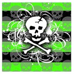 Deathrock Skull Large Satin Scarf (Square)