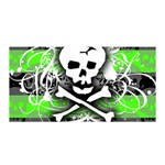 Deathrock Skull Satin Wrap