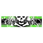 Deathrock Skull Satin Scarf (Oblong)
