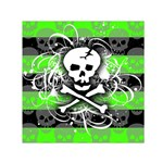 Deathrock Skull Small Satin Scarf (Square)