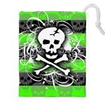 Deathrock Skull Drawstring Pouch (XXL)