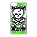 Deathrock Skull iPhone 7 Seamless Case (White)
