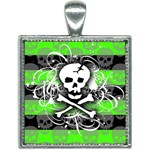 Deathrock Skull Square Necklace