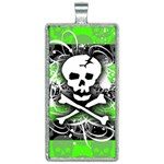 Deathrock Skull Rectangle Necklace