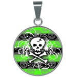 Deathrock Skull 25mm Round Necklace