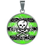 Deathrock Skull 30mm Round Necklace