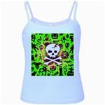 Deathrock Skull & Crossbones Baby Blue Spaghetti Tank