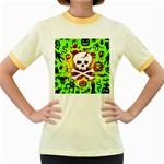 Deathrock Skull & Crossbones Women s Fitted Ringer T-Shirt