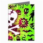 Deathrock Skull & Crossbones Greeting Card