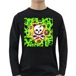 Deathrock Skull & Crossbones Long Sleeve Dark T-Shirt