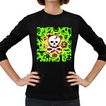Deathrock Skull & Crossbones Women s Long Sleeve Dark T-Shirt