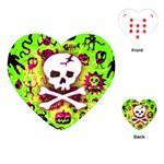 Deathrock Skull & Crossbones Playing Cards Single Design (Heart)