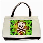 Deathrock Skull & Crossbones Basic Tote Bag